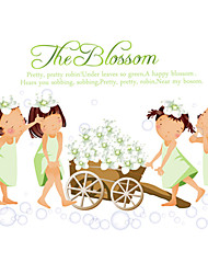 Wedding White Cherry Blossom Cerasus Romance Wall Stickers DIY Bedroom Living Room Girls Wall Decals