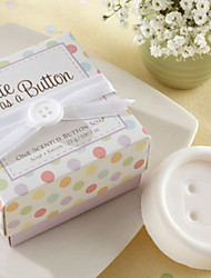 """Cute as a Button"" Button Soap Favor for Wedding Gift"