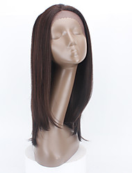 Wholesale ChocolateBrown Straight Synthetic Lace Front Wig GluelessLong Heat Resistant Synthetic Hair Women Wig