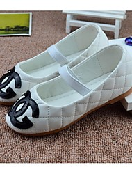 Girls' Shoes Outdoor / Dress / Casual Comfort PU Flats Black / White