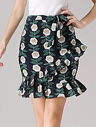 Women's Bowknot Women'swm  Skirts Short Skirt Fishtail