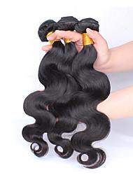 malaysiska jungfru hår förkroppsligar vinkar vågig obearbetade malaysiska vågigt 3 buntar människohår väva buntar, 1b