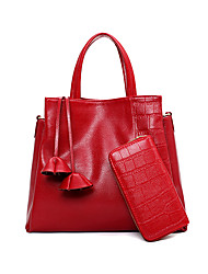 Women PU Formal / Casual / Office & Career / Shopping Tote White / Blue / Red / Black
