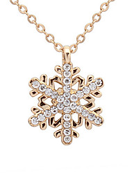 Exquisite Diamond Snowflake Necklace Gift Girls