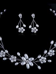 Schmuck Halsketten / Ohrringe Braut-Schmuck-Sets / Set Modisch Hochzeit / Party 1 Set Damen Durchsichtig Hochzeitsgeschenke