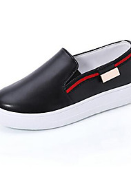 Women's Shoes Patent Leather Spring / Summer / Fall Comfort / Round Toe Loafers Outdoor / Casual Platform Slip-on