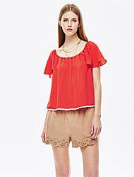Heart Soul® Women's Round Neck Short Sleeve T Shirt Coral-11AA27411