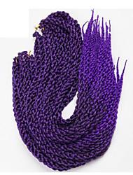Roxa torção cúbico Tranças torção Extensões de cabelo 22 inch Kanikalon 12 costa 115-125g/pack grama Tranças de cabelo