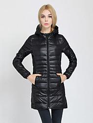 Women's Down Coat,Simple / Street chic Hooded Long Sleeve