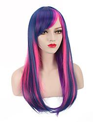 el modelo más vendido de la peluca del potro cos anime cosplay púrpura Li Bao