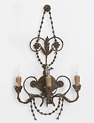 três cabeças personalidade criativa lâmpada de parede de metal retro industrial para a / hotel luz parede da sala de decorar casa