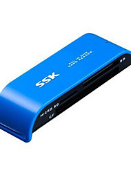 SSK USB 2.0 Multifunctional SD / CF / TF Card Reader / Compact Flash Card Reader SCRM055