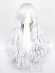 Cosplay Perücken Angel Sanctuary Rosiel Silber Lang Anime Cosplay Perücken 90 CM Hitzebeständige Faser Mann / Frau