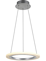 Modern Design 10W LED Chandelier, Round Iron Acrylic Plating Living Room/Dining Room Kitchen Pendant Lamps