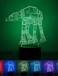 cão tropa criativo colorido usb 3d luz conduzida da noite