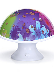 troca de bateria cor estocásticos padrão noite lâmpada luz lâmpadas do projetor domésticos 1pc cogumelo noite de luz brilhante