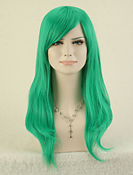 Capless Green Color High Quality Natural Straight Synthetic Wig