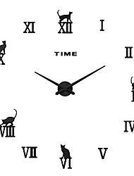MQ - 013Large Size Creative Diy Wall Clock Art Background Wall Clock Modern Personality Quiet Bell