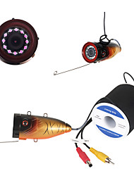 HD 1000 TVL Underwater Fishing Camera Fish Finder Ice Fishing Camera  With 15M Cable Infrared version IR LED Camera