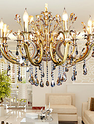 5 Modern/Contemporary Crystal / Candle Style Others Metal Chandeliers Living Room / Bedroom / Dining Room