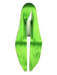 Cosplay Wigs Code Gease Cirno Green Long Anime Cosplay Wigs 100 CM Heat Resistant Fiber Male / Female