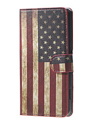 Retro American Flag Pattern Leather Stand Cover Case with Card Slots for Huawei Y5 Y560