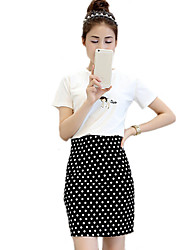 2016 New Women Fresh And Lovely Polka Dot Skirt
