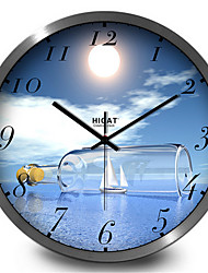 Creative Tide Bottle Silent Electronic Quartz Wall Clock