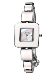 WEIQIN ® Women's Brand Simple Rhinestone Square Shaped Dial Quartz Bracelet Watches with Heart Shape Pendant