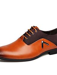 Для мужчин обувь Кожа Весна Лето Осень Зима Формальная обувь Туфли на шнуровке Назначение Повседневные Для вечеринки / ужина Черный
