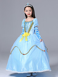 Ball Gown Ankle-length Flower Girl Dress - Cotton / Tulle / Woolen Cloth Short Sleeve Scoop with