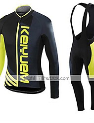 KEIYUEM®Spring/Summer/Autumn Long Sleeve Cycling Jersey+long Bib Tights Ropa Ciclismo Cycling Clothing Suits #L41