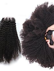 4 Stück Kinky Curly Menschliches Haar Webarten Brasilianisches Haar Menschliches Haar Webarten Kinky Curly