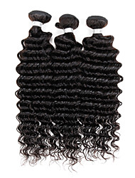 "3 Pcs/Lot 8""-30"" Malaysian Hair Extensions UK Deep Wave Hair Weave Styles Virgin Remy Hair Bundles 300G"