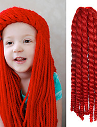 "Red 12"" Kid's Kanekalon Synthetic 2X Havana Mambo Twist 100g Hair Braids with Free Crochet Hook"