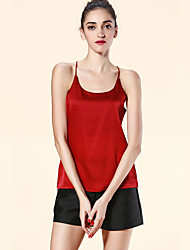 Women's Solid Red / Beige / Black / Gray Tanks,Strap Sleeveless