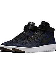 Nike Air Force 1 Ultra Flyknit Mid Men's Running Shoes Nike Air Force One Mid Flyknit Skateboarding Sport Shoes Blue