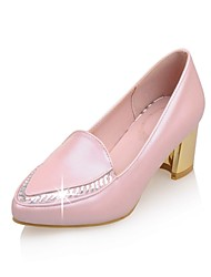 Women's Shoes PU Summer/ Pointed Toe Heels Office & Career / Casual Chunky Heel Sparkling Glitter Blue / Pink / White