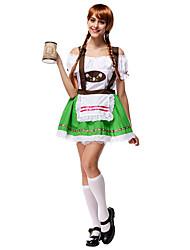 Cosplay Kostüme Oktoberfest/Bier Film Cosplay Grün Patchwork Top / Rock Halloween / Weihnachten / Silvester Frau Terylen