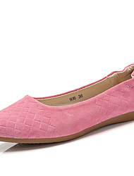 Women's Shoes Nappa Leather Spring / Summer / Fall / Winter Moccasin Flats Athletic / Casual Flat Heel Pink / Gray