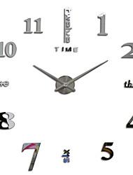 MQ - 005Large Size Creative Diy Wall Clock Art Background Wall Clock Modern Personality Quiet bell