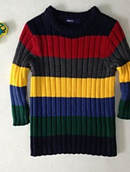 Boy's Casual/Daily Striped Sweater & Cardigan,Cotton Spring / Fall Black