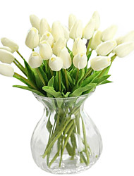 1 Pcs Silk / PU Tulips Artificial Flowers