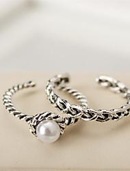 Bagues pour Première Phalange Perle Mode Vintage Argent Bijoux Décontracté 1set