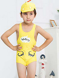 Boy's Sports Solid Swimwear,Nylon Summer Blue / Yellow