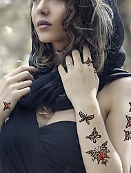 5 Tatouages Autocollants Séries bijoux / Séries animales / Séries de fleur / Séries de totem / Autres / Cartoon SeriesNon Toxic / Motif /