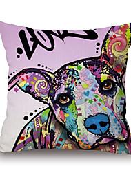 Cotton/Linen Pillow Case,Novelty / Animal Print / Graphic Prints Accent/Decorative / Modern/Contemporary / Casual