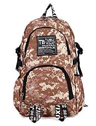 35 L sac à dos Camping & Randonnée Extérieur Multifonctionnel Camouflage Toile Other