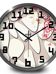 Redonda Moderno/Contemporâneo Relógio de parede,Outros Metal 30*30*7