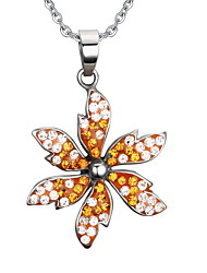 Necklace Pendant Necklaces / Pendants Jewelry Daily / Casual Fashion Stainless Steel Orange 1pc Gift